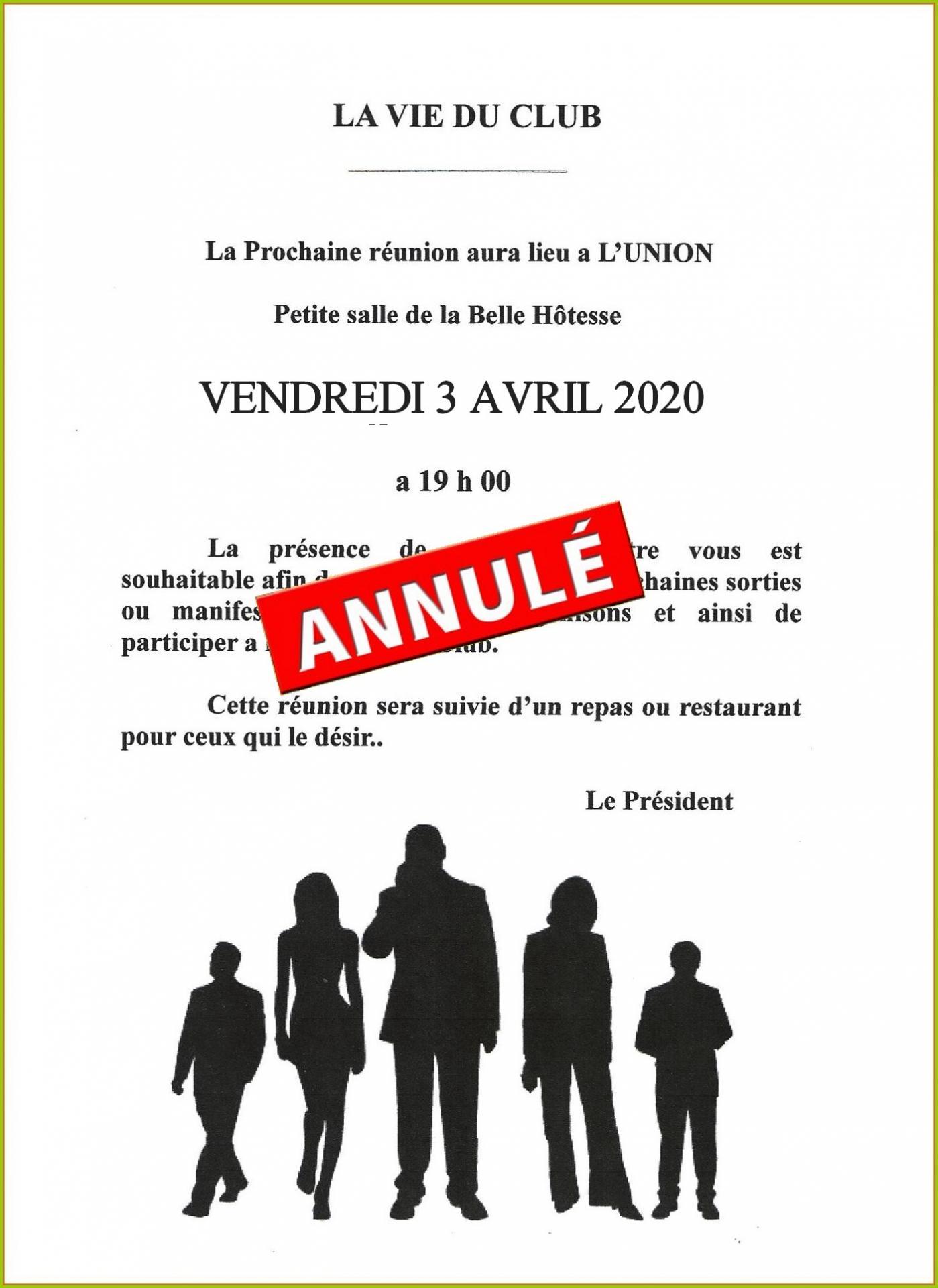 Reunion belle hotesse 04 2020