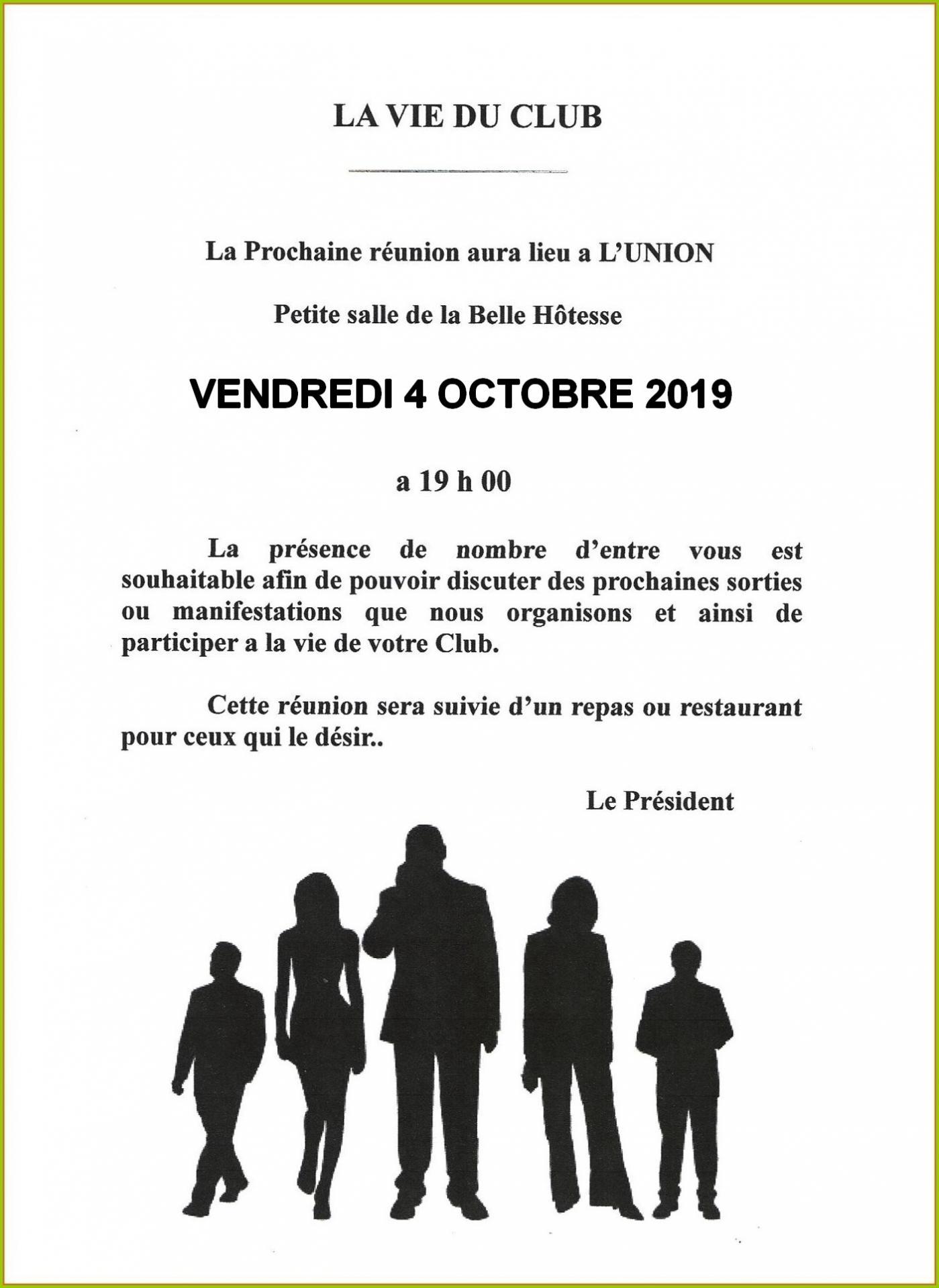 Reunion belle hotesse 10 2019